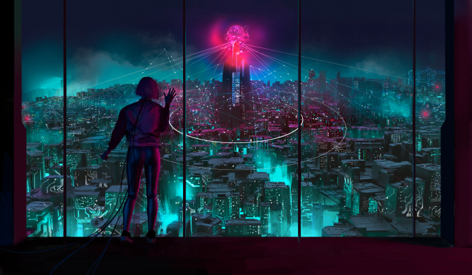 VR Binary City by Ocelot